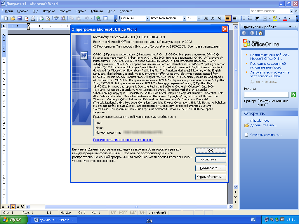 Microsoft Office 2003 Professional SP3 Russian + Portable by
